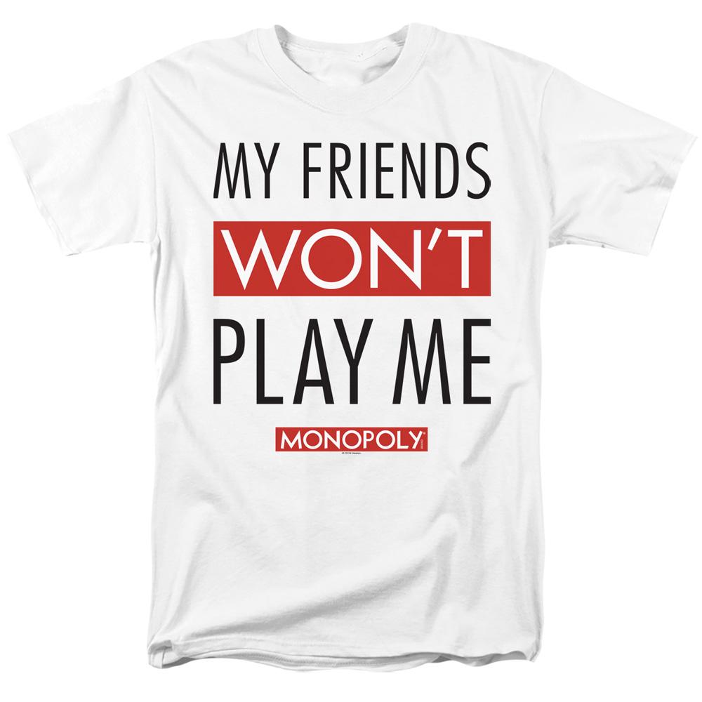 Friends T Shirt T Shirt Monopoly Tee Me Won't Monopoly White